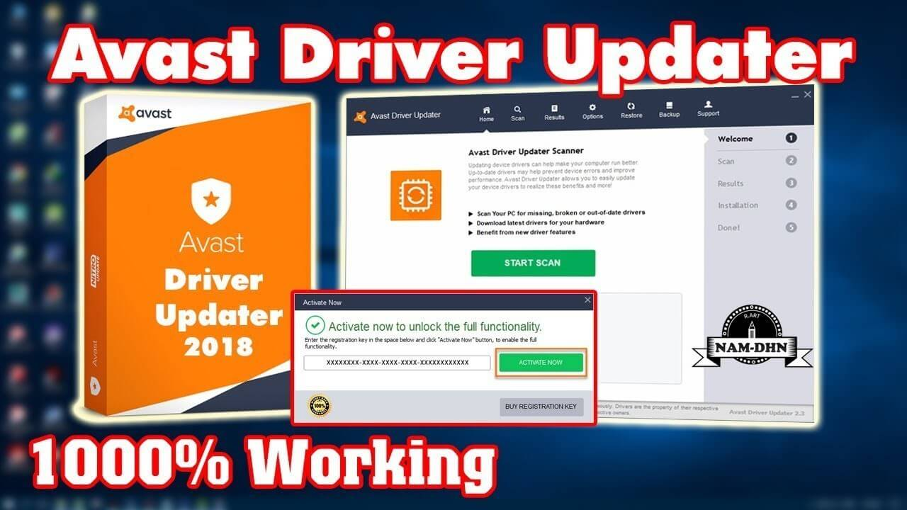avast driver updater registration code download